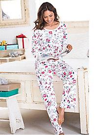 Women's Karen Neuburger Crimson & Clover Henley Pajamas