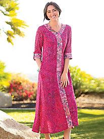 5e0dcf0ceb20 4 Women s Batik V Neck Twin Print Caftan