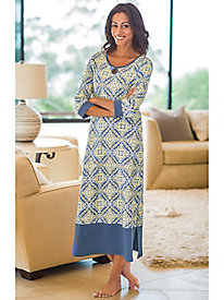 Women's Print Knit Caftan