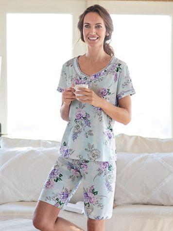 Karen Neuburger® Serenade Knit Bermuda Pajama Set - Image 1 of 1