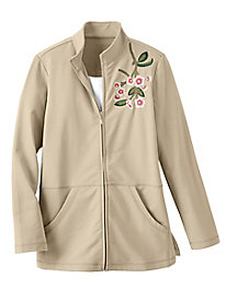 Women's Cherry Blossom Zip-Front Jacket