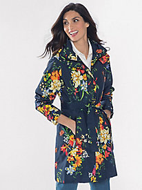 Women's April Flowers Raincoat