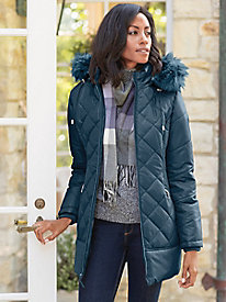 Women's Hooded Quilted Puffer