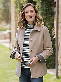 Women's Larry Levine Wool Barn Coat