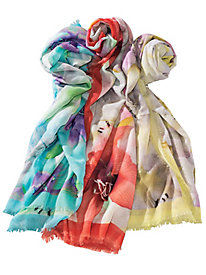 Women's Floral Pastel Scarf