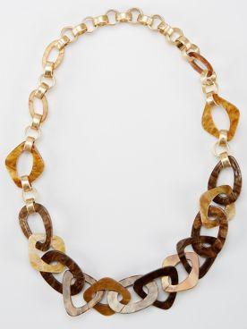Tortoise Enameled Necklace