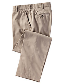 Men's Stone Washed Plain-Front Twill Pants by Norm Thompson