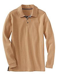 Men's Destination Knits French Rib-Knit Polo Shirt