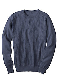 Men's Le Chateau Merino Cable Crew by Norm Thompson