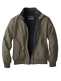 Men's Weatherproof Fleece-Lined Microfiber Jacket