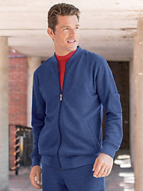 Men's At-Ease French Terry Baseball Jacket by Norm Thompson