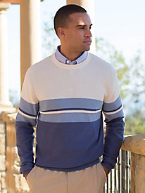 Men's Intermix Textured Crewneck Sweater