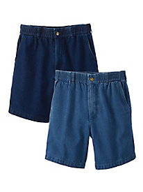 Men's Complete Comfort Stretch-Waist Shorts