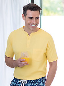 Men's Destination Knits Short-Sleeve Henley