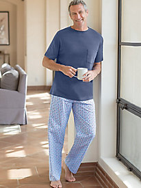 Men's Majestic Anchor Gingham Lounge Pants