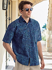 Men's Midnight Reef Batik Shirt