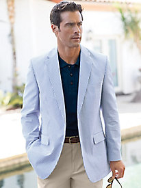 Men's Seersucker Sport Coat by Palm Beach