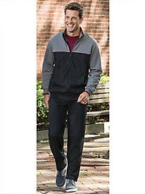 Men's Fleece Warm Up Set by Norm Thompson