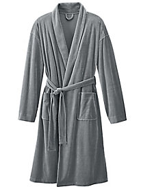 Men's Velour Wrap Robe