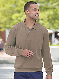 Men's Velour Polo Shirt