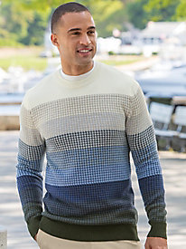 Men's Houndstooth Ombre Crewneck Sweater