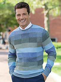 Men's Tonal Mosaic Crewneck Sweater