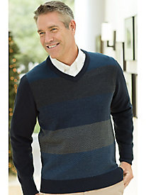 Men's Haggar Colorblock Herringbone Sweater