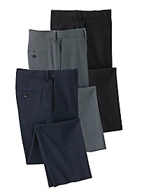 Men's Haggar Stretch Plain Front Pants