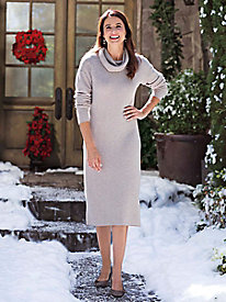 Women's Herringbone Knit Sweater Dress