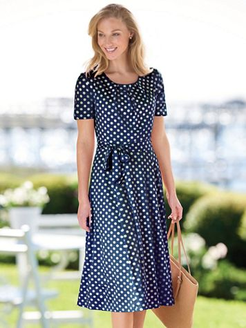 Women's Polka Dot Dress - Image 1 of 9