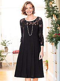 Women's Damask Holiday Dress