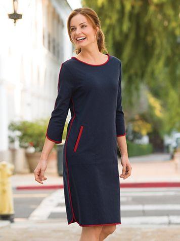 Women's Beau Monde Ponte Dress - Image 3 of 3
