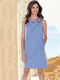 Women's Joules Indria Embroidered Yoke Dress