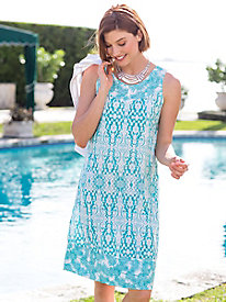 Women's Summer Palms Batik Dress