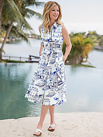 Women's Parisian Print Shirtdress