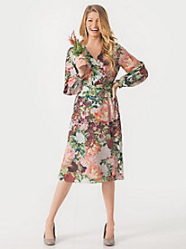 Women's Autumn Rose Wrap Dress