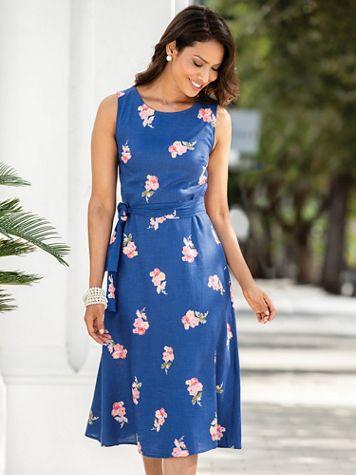 Fiona Blue Posy Dress