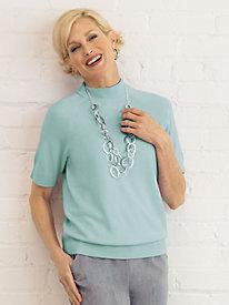 Soft Spun® Short Sleeve Mock Neck Sweater
