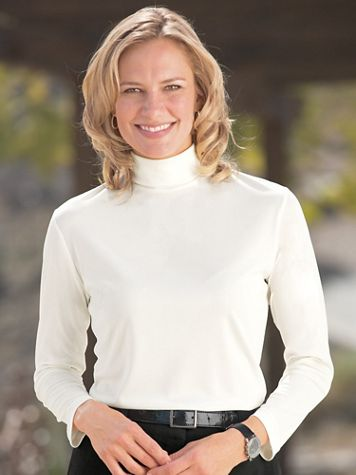 Silky Denier Knit Turtleneck - Image 4 of 4