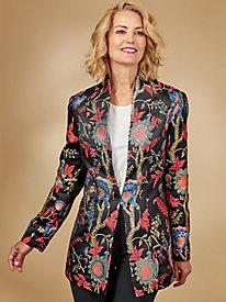 Holiday Jacquard Statement Jacket By Regalia®