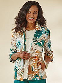 Emerald Isle Print Jacket By Alfred Dunner®