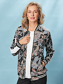 Print Bomber Jacket by Isabel Hayley