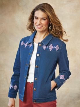 Embroidered Denim Jacket By Koret®