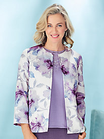 Watercolor Floral Jacket By Alfred Dunner®