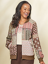 Patchwork Bomber Jacket By Alfred Dunner®