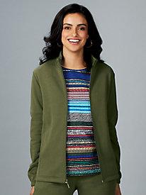 Zip-Front Fleece Jacket