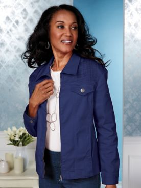 Koret® Stretch Denim and Twill Jacket