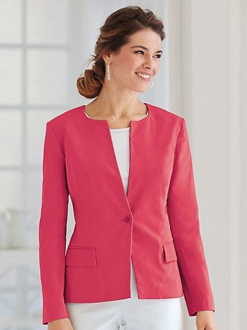 Koret® One-Button Front Jacket - Image 1 of 5