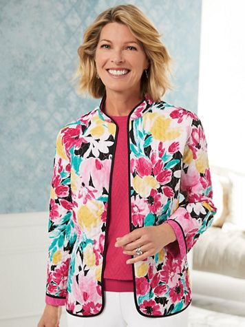 Alfred Dunner® Quilted Reversible Jacket - Image 0 of 3
