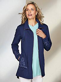 Soutache Embellished Knit Jacket